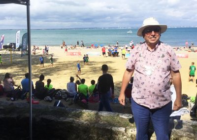 Mayor Michael Lilley at Appley Beach Sports and Football Festival 2020