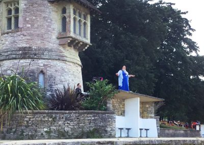 Opera singing at Appley Tower Appley Beach Ryde Isle of Wight