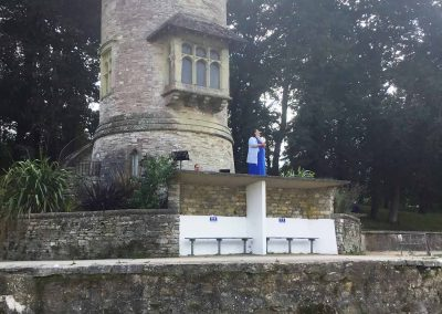 Opera singing at Appley Tower Appley Beach Ryde Isle of Wight Ticket to Ryde festival