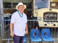 Michael Lilley Ryde Mayor supporting Isle of Wight Bus Museum Park Road Ryde Isle of Wight