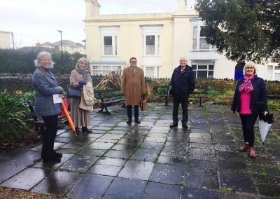Michael Lilley Mayor of Ryde meeting Vernon Square Conservation Society