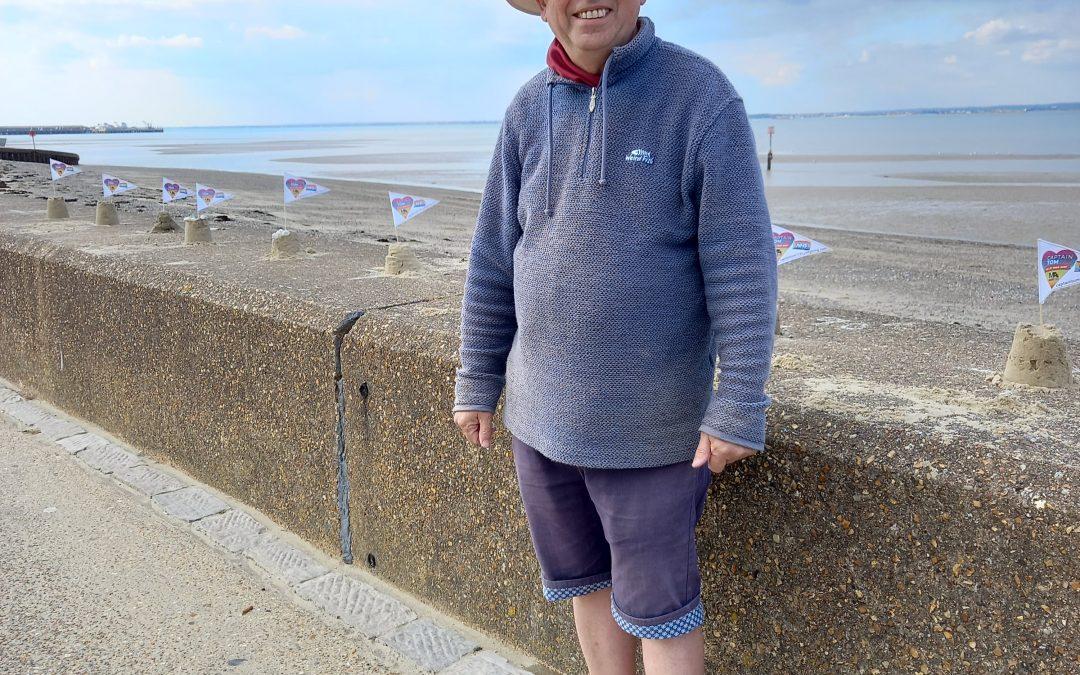 Happy 101st Birthday, Captain Tom with 100 Sandcastles!